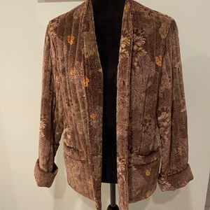 Vintage Quilted Velvet Floral Jacket